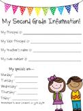 Second Grade Class Information