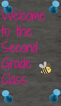 Second Grade Class Welcoming Sign