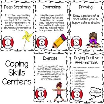 Coping Skills Centers: Calming Strategies Classroom Guidance Lesson