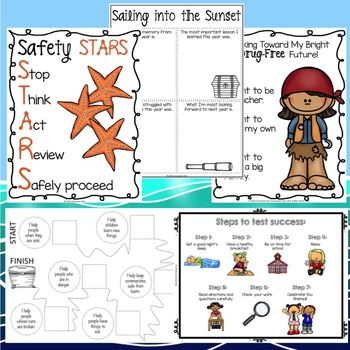 School Counseling - Classroom Guidance Lessons Bundle - Second Grade - Sailing