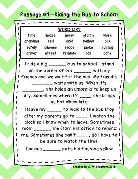 Cloze Reading Passages 2nd Grade Teaching Resources   Teachers Pay ...