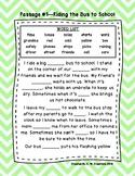 Second Grade Cloze Reading Passages Set A (Passages 1-10)