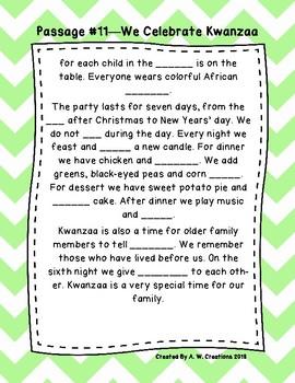 Second Grade Cloze Reading Passages Set B (#11-20)