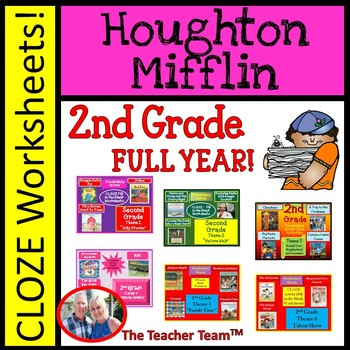 Houghton Mifflin Second Grade Cloze Worksheet Package Themes 1-6