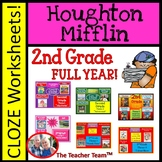 Houghton Mifflin Reading Second Grade Cloze Worksheet Bundle Themes 1-6