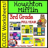 Houghton Mifflin Reading Third Grade Cloze Worksheet Bundle for Themes 1-6