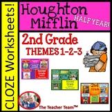 Houghton Mifflin Reading 2nd Grade Worksheets Bundle Theme 1 - Theme 3