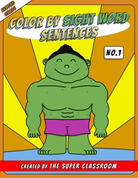 Second Grade: Color by Sight Word Sentences - 001