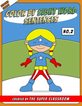 Second Grade: Color by Sight Word Sentences - 002