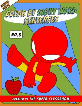 Second Grade: Color by Sight Word Sentences - 003