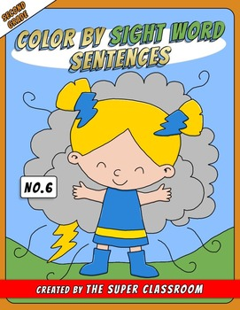 Second Grade: Color by Sight Word Sentences - 006