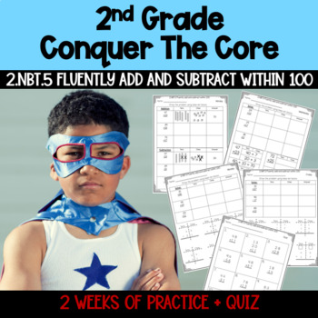 Second Grade Common Core 2.NBT.5 Week Worksheets Packet M-F