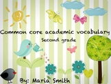 Second Grade  Academic Vocabulary Cards and Worksheets