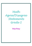 Second Grade Common Core Agree Disagree Statement Packet