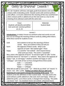 Second Grade Common Core Aligned Grammar/Prefixes, Suffixes, Possessives