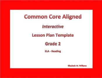 Second Grade Common Core Aligned Interactive Lesson Plan Templates