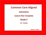 Second Grade Common Core Aligned Interactive Lesson Plan Templates