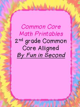 Second Grade Common Core Aligned math sheets
