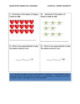 Second Grade Common Core Assessment (all standards -97 problems)