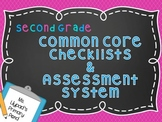 Second Grade Common Core Checklists and Assessment System