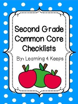Second Grade Common Core Checklists