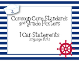 2nd Grade Common Core ELA I Can Statements - Learning Targ