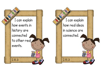 Second Grade Common Core ELA - Informational Text Standards Mini-Posters