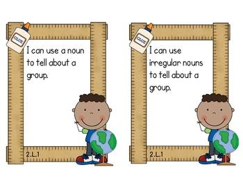 Second Grade Common Core ELA - Language Standards Mini-Posters