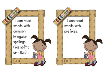Second Grade Common Core ELA - Reading Foundations Standards Mini-Posters