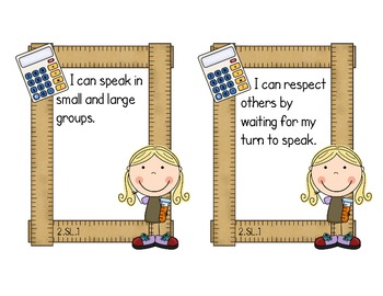 Second Grade Common Core ELA - Speaking and Listening Standards Mini-Posters
