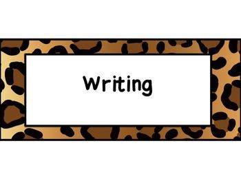 Second Grade Common Core ELA Standards Posters: Jungle Theme