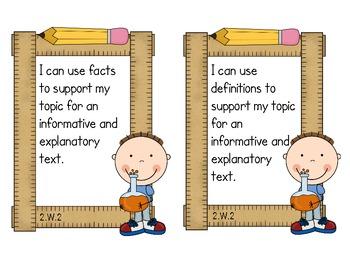 Second Grade Common Core ELA - Writing Standards Mini-Posters