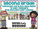 "Second Grade Common Core ELA and Math ""I Can"" Posters Bund"