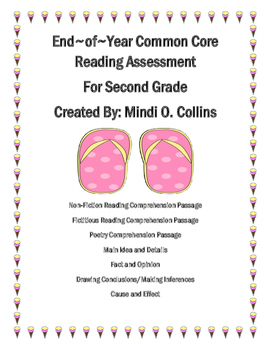 Second Grade Common Core End-of-Year Reading Assessment