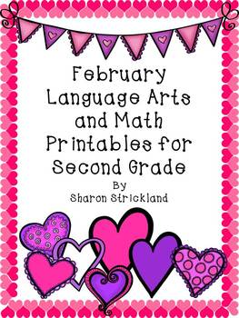Second Grade Common Core English/Language Arts and Math Printables for February