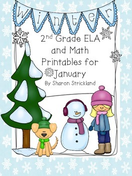 Second Grade Common Core English/Language Arts and Math Printables for January