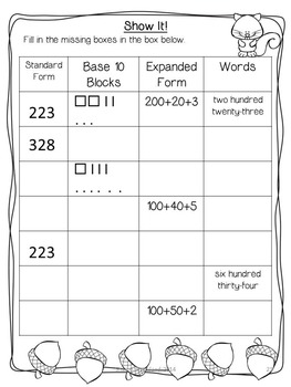 Second Grade Common Core English/Language Arts and Math Printables for October