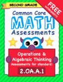 Second Grade Common Core Formative Assessments - 2.OA.A.1