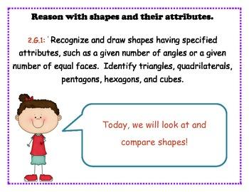 Second Grade Common Core:  Geometry Bundle