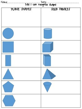 Second Grade Common Core Geometry Pack