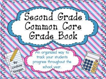 Second Grade Common Core Grade Book ***Now EDITABLE***