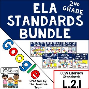 Second Grade Grammar ELA Practice Bundle L.2.1 for Google Drive