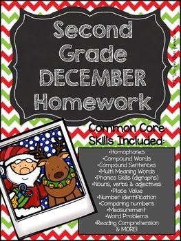 Second Grade Common Core Homework - December