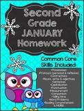 Second Grade Common Core Homework - January