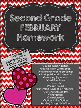 Second Grade Common Core Homework - February