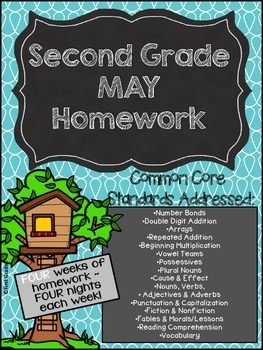 Second Grade Common Core Homework - May