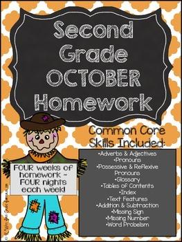 Second Grade Common Core Homework - October