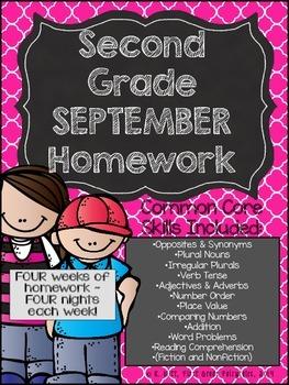 Second Grade Common Core Homework - September