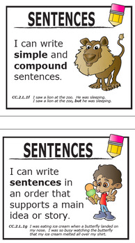 """2nd Grade Language """"I Can"""" Posters (23 FULL COLOR Posters!)"""