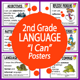 "2nd Grade LANGUAGE ""I Can"" Posters (23 FULL COLOR 2nd Grade ELA Posters!)"